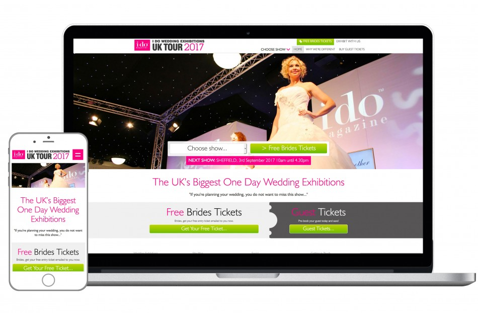 Graphic & Website Design & Marketing for I Do Wedding Exhibitions