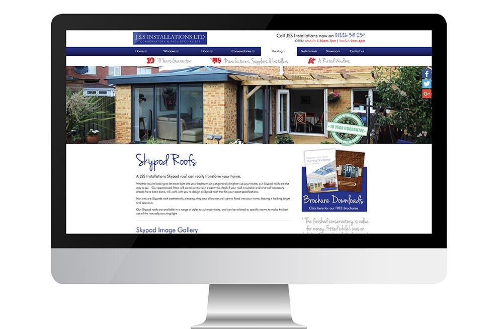 Graphic & Website Design & Marketing for JSS Installations